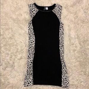H&M Divide Body Con leopard mini Dress.